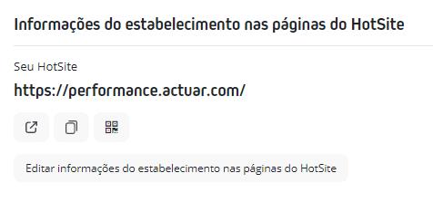 HotSite > Editar informações do estabelecimento nas páginas do HotSite