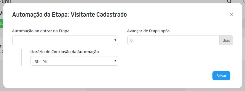 Ícone de raio > Automação da Etapa
