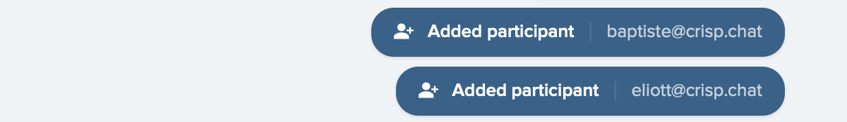 Your team gets notified whenever new participants are added