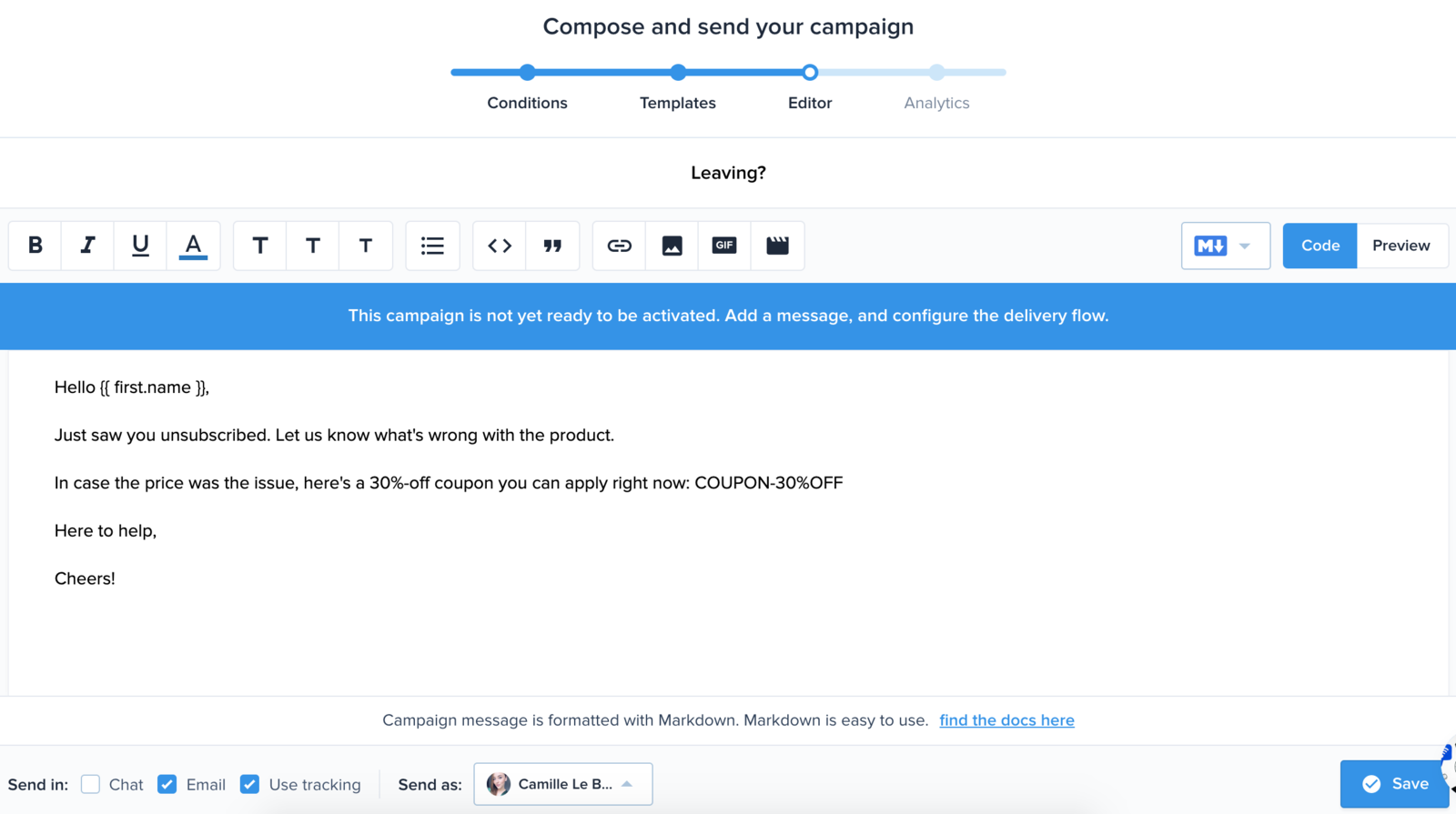 Write and Activate your Automated Campaign