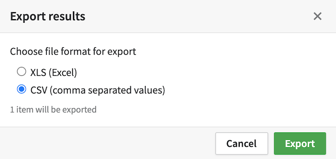 Export contacts from Pipedrive