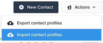 Import contacts in Crisp