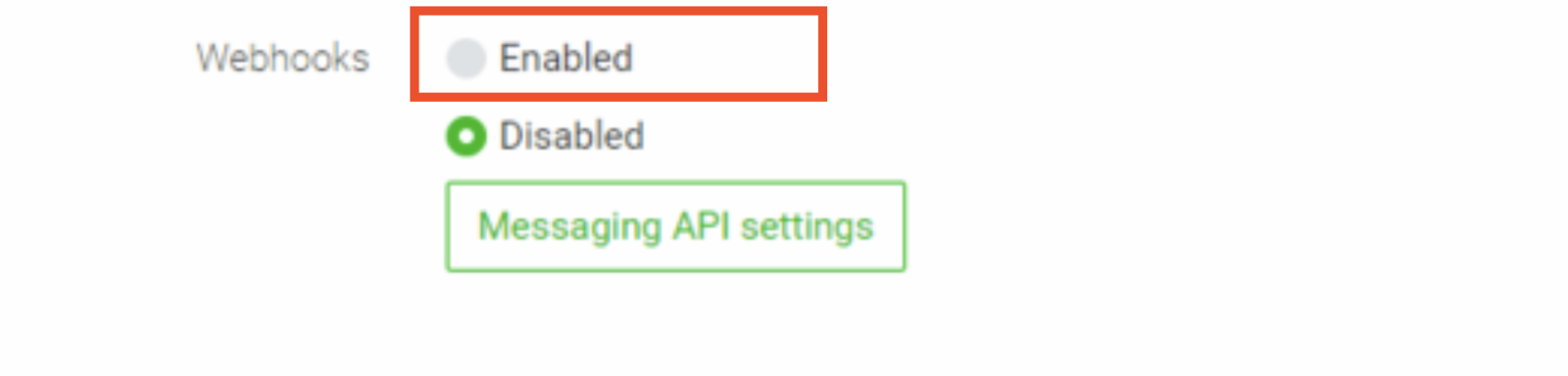 Also, make sure Webhooks are enabled