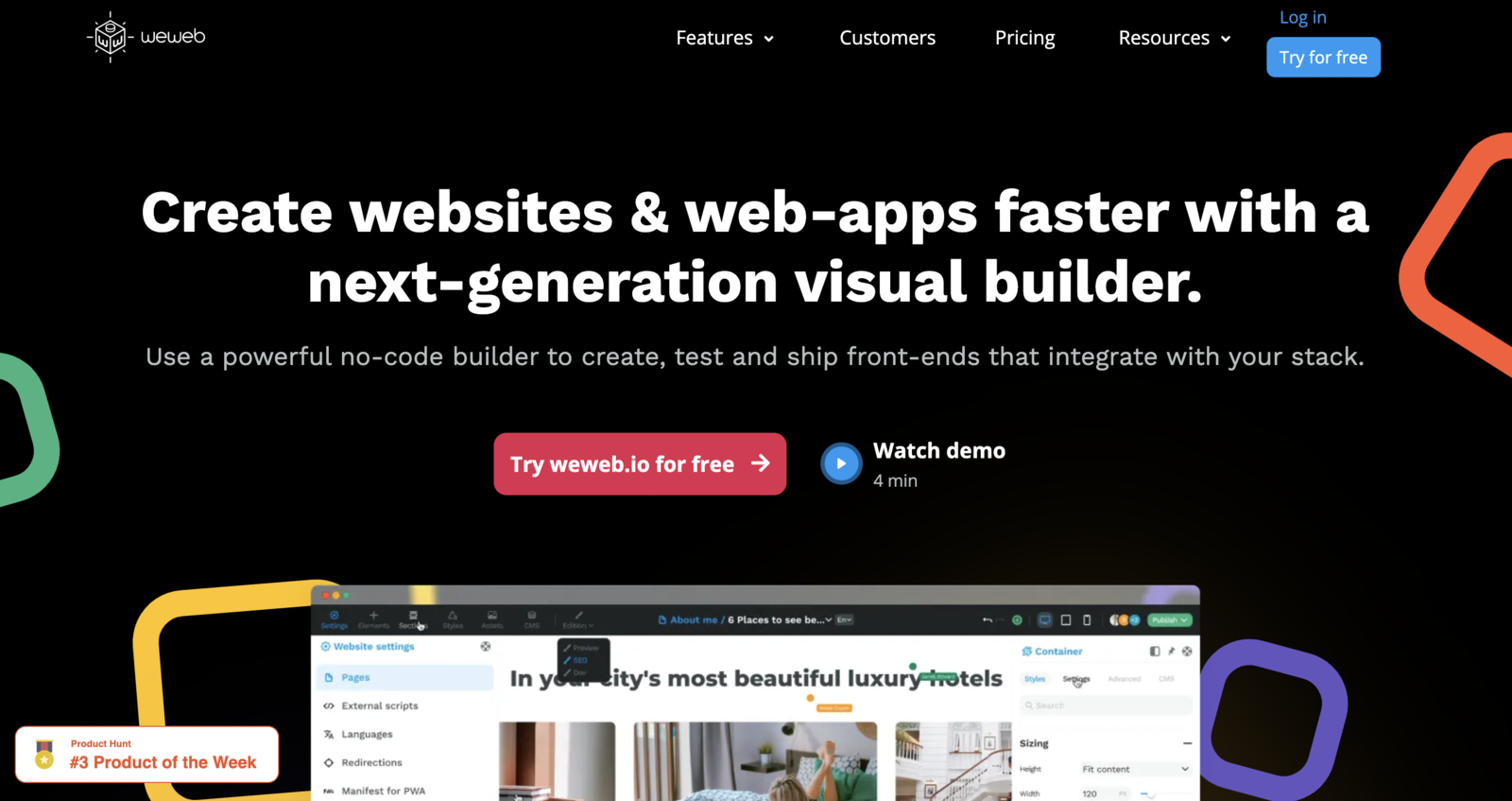 The weweb website