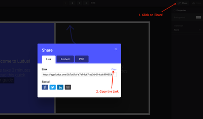 You can embed presentations directly into Sutori