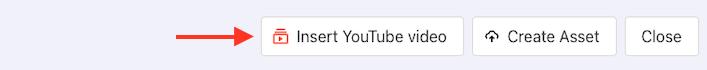 Insert youtube video