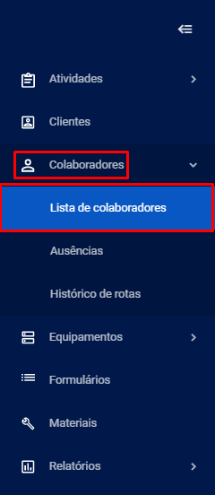 Lista de colaboradores