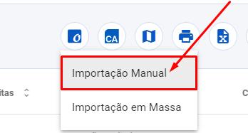 Importação manual