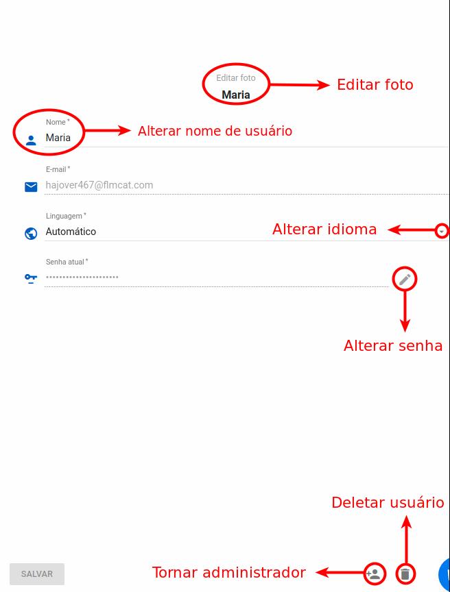 Editando o usuário