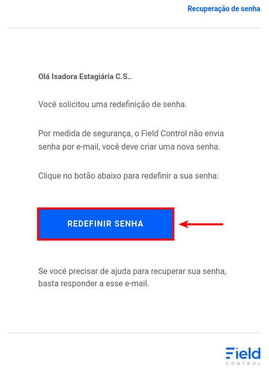 Ao abrir o e-mail, clique no local indicado na imagem