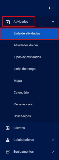 Lista de atividades