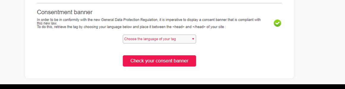 Verified your consent banner