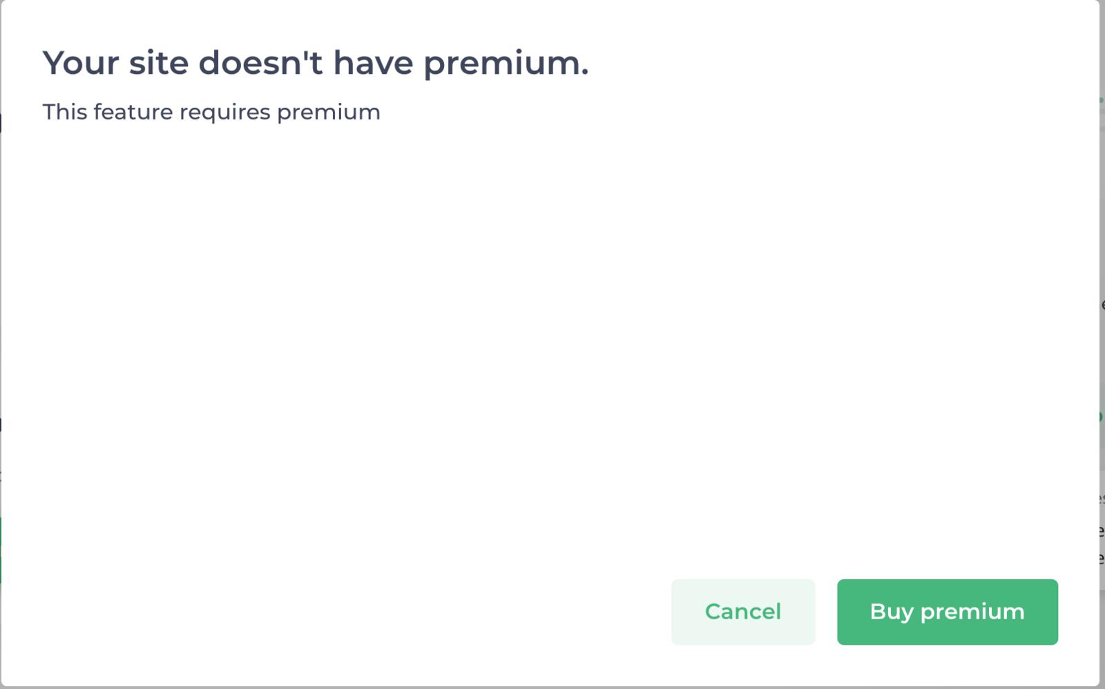 Attach Domain — Premium Required
