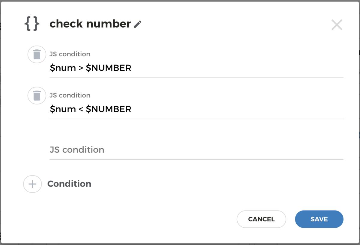 Conditions block