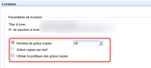 Choix du mode de calcul des grâces copies lors de la génération du fichier de livraison