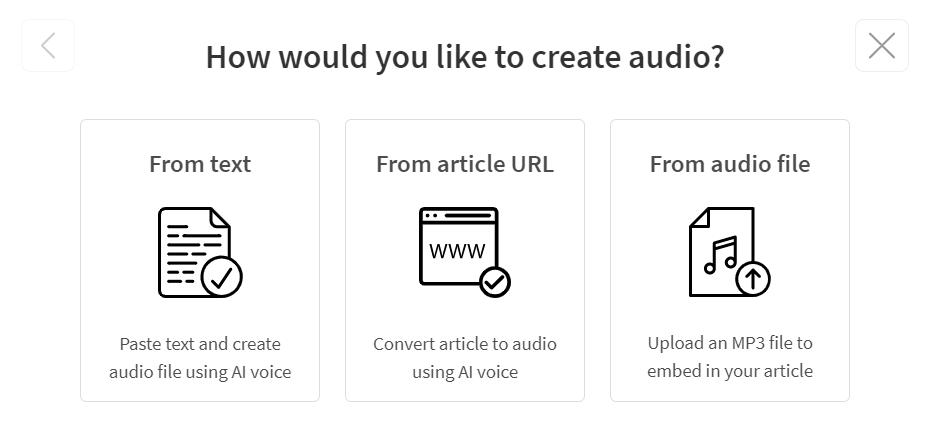 Ways of Creating Audio