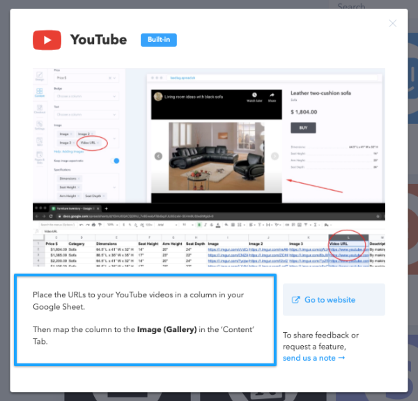 Follow the instruction to use this built-in integration