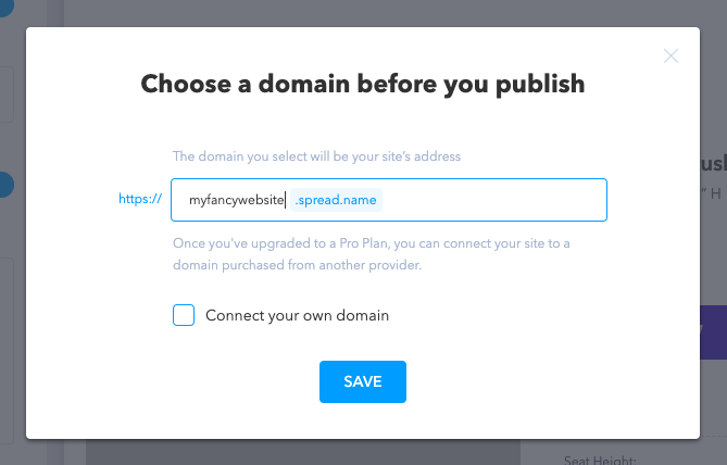 Enter the domain name and save the changes