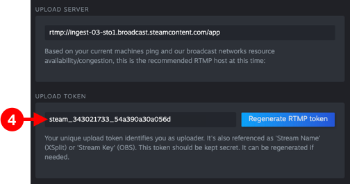 Copy Upload Token From Steam