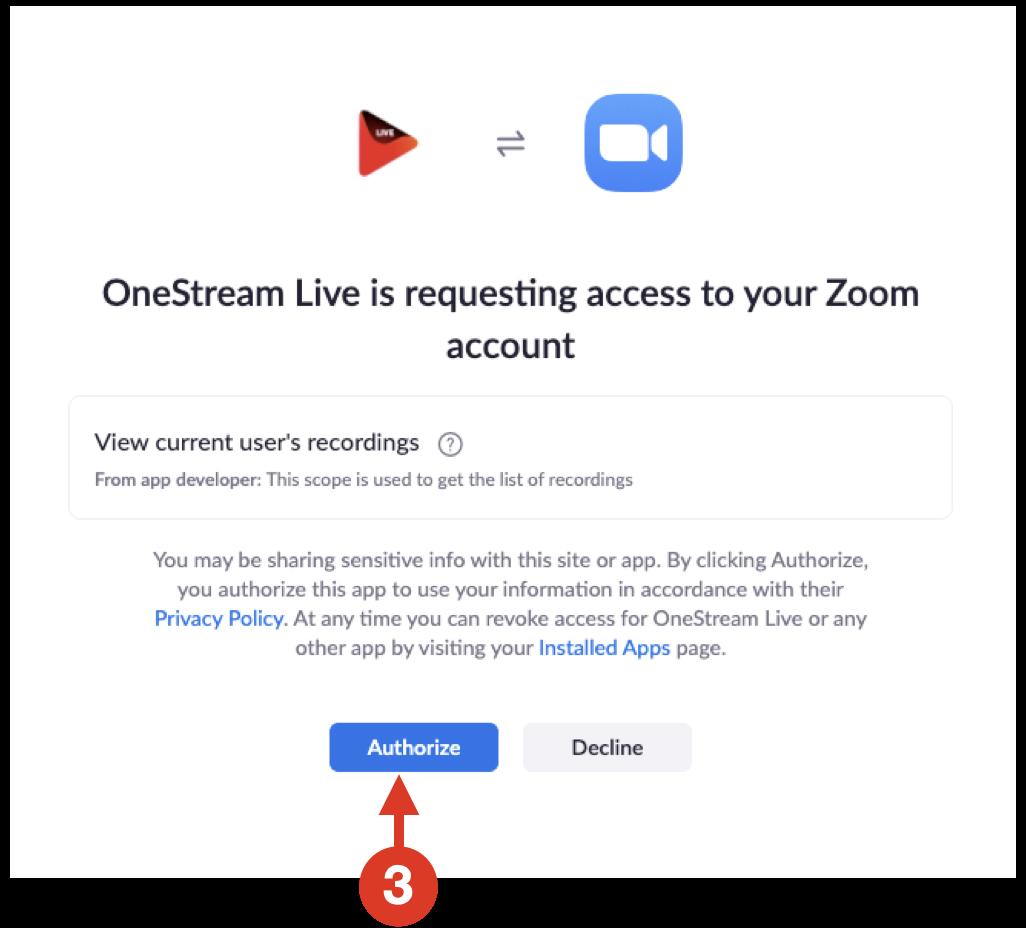 Authorize OneStream