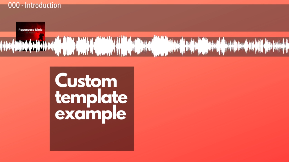 Example template of 3840x2160. Horizontal templates uses 1280x720.