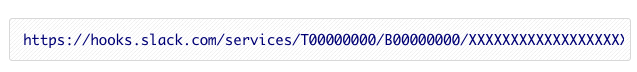 Slack Webhook Example