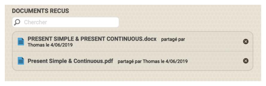 Documents reçus