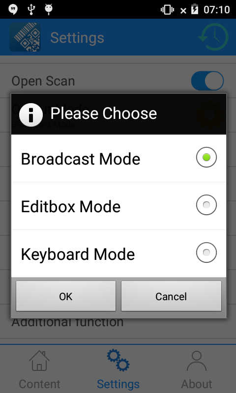 Output Mode Setting