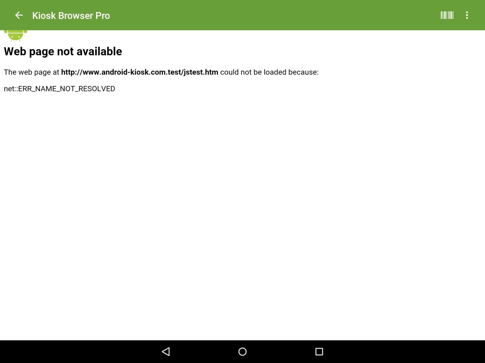 Standard Error Page