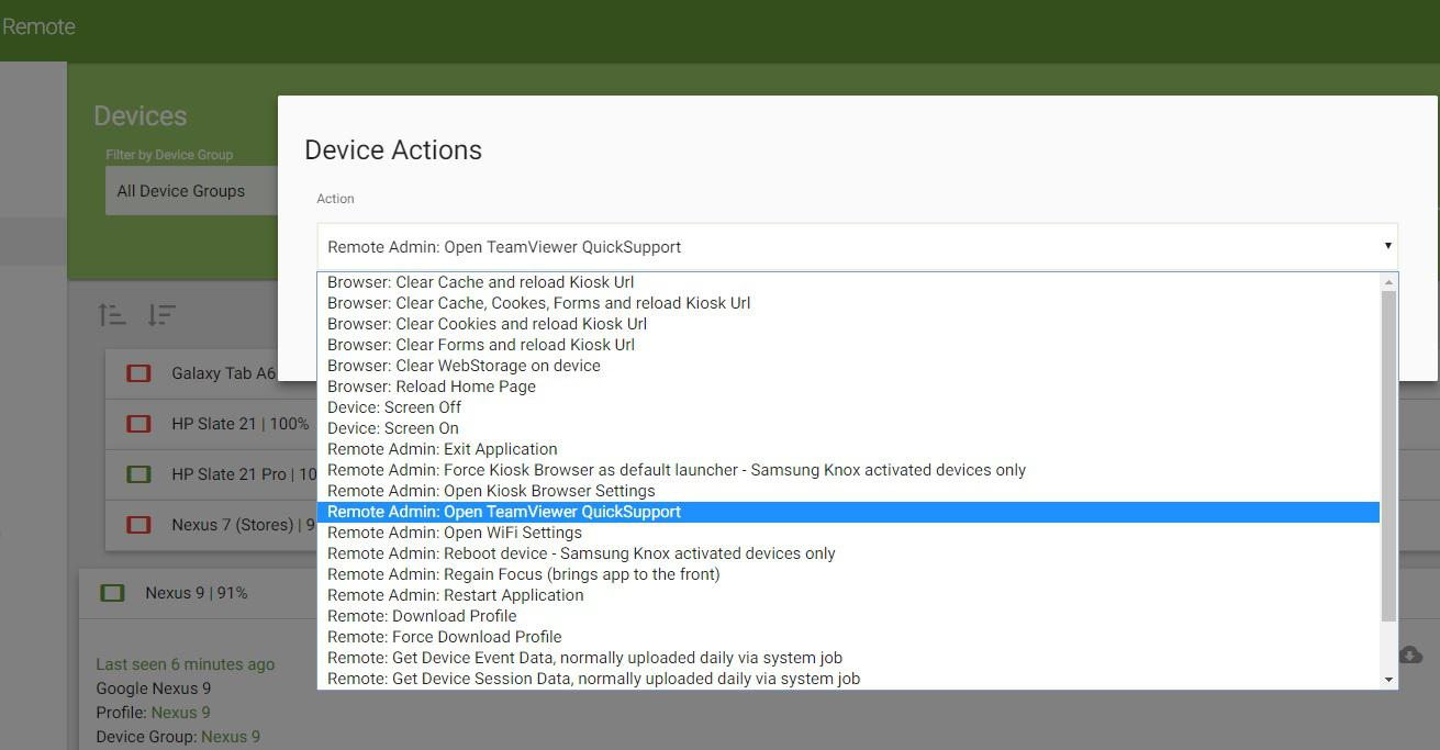Device Actions