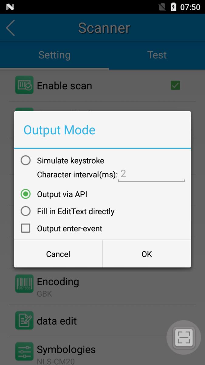 Output Mode