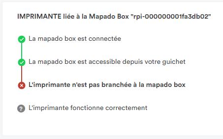 Mapado Box connectée au réseau