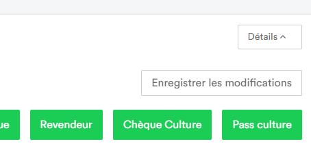 """Bouton """"Détails"""" du panier"""