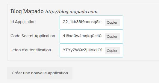 Clés d'API Mapado