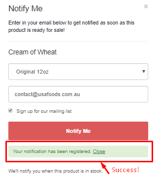Success! You're signed up. Make sure to whitelist USAFoods to avoid this message being put into your spam folder.