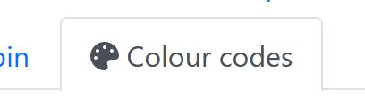 Colour code tab icon