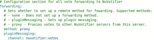 Forwarding method example