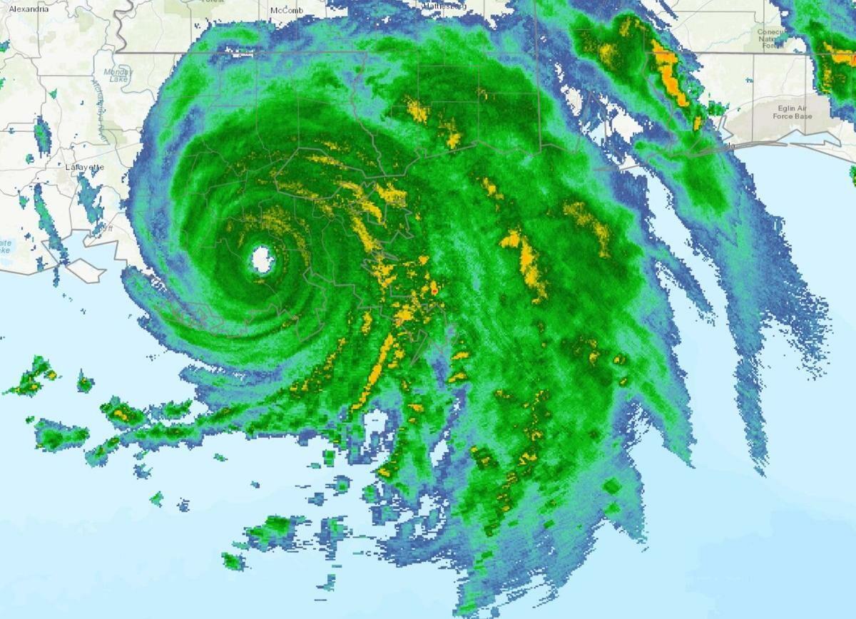 Image showing Radar of Hurricane Ida as it made landfall.