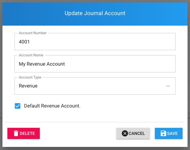 Add Journal Account