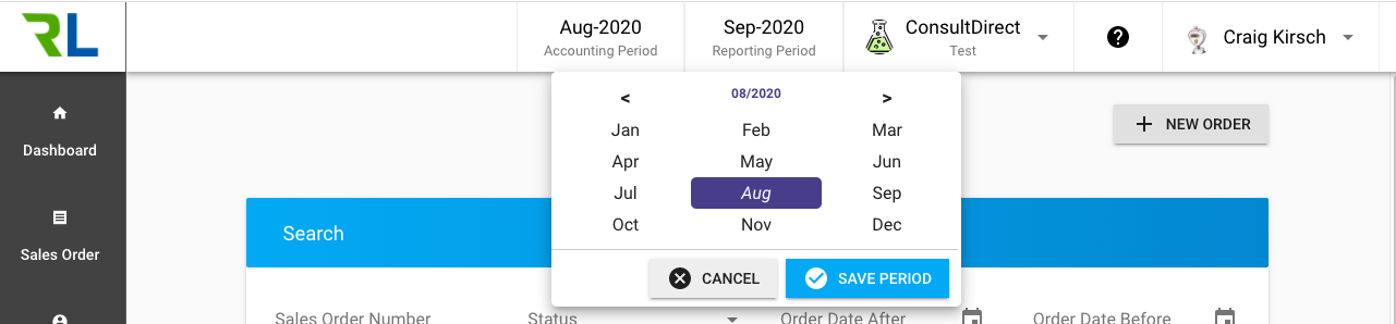 Setting the Reporting Period