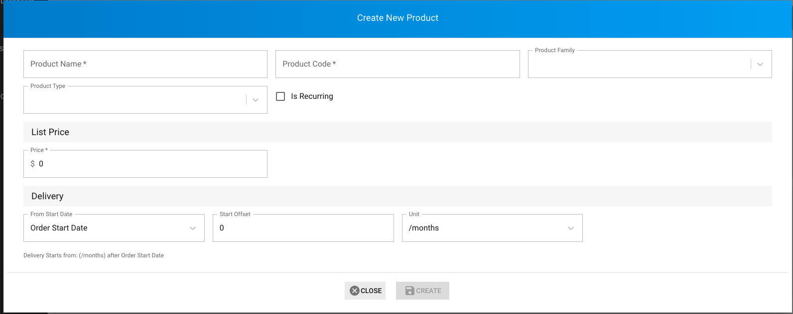 Create new product