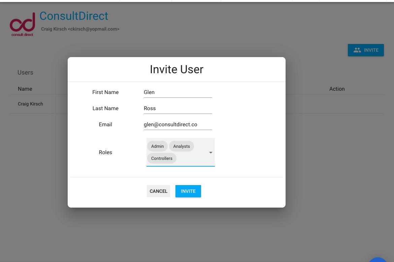 Specify User Info