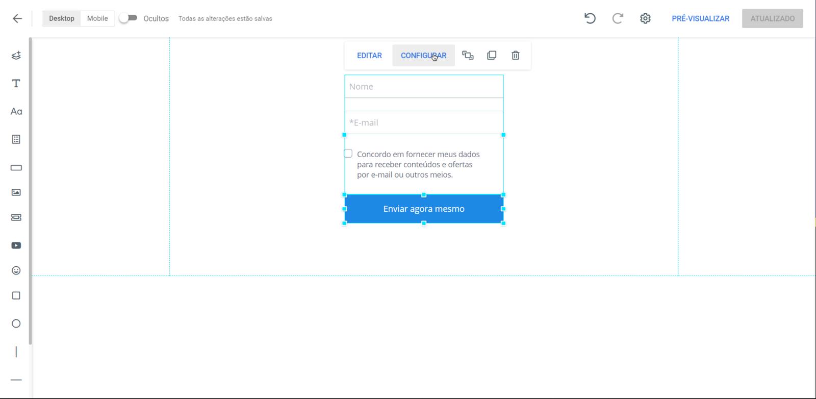 Criando um Formulário na GreatPages
