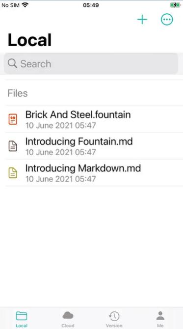 JotterPad iPhone Main Screen Interface