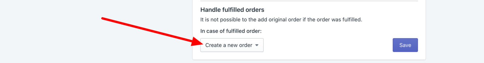 Handle fulfilled orders