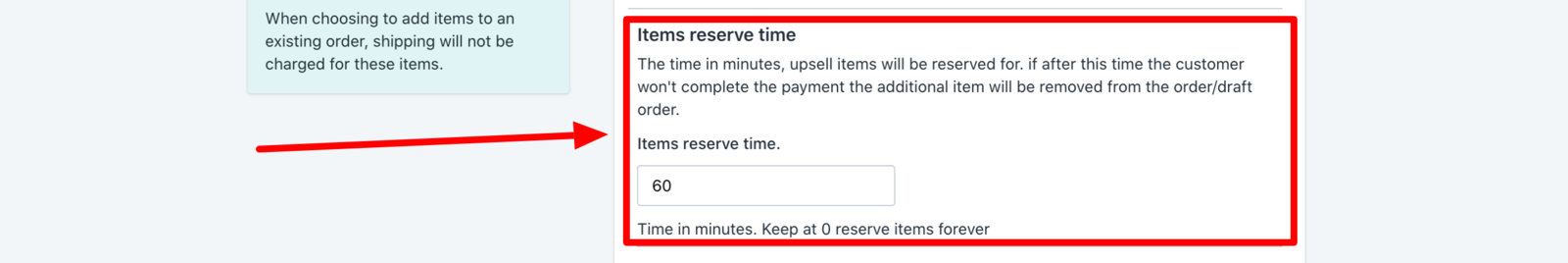 Upsell reserve time