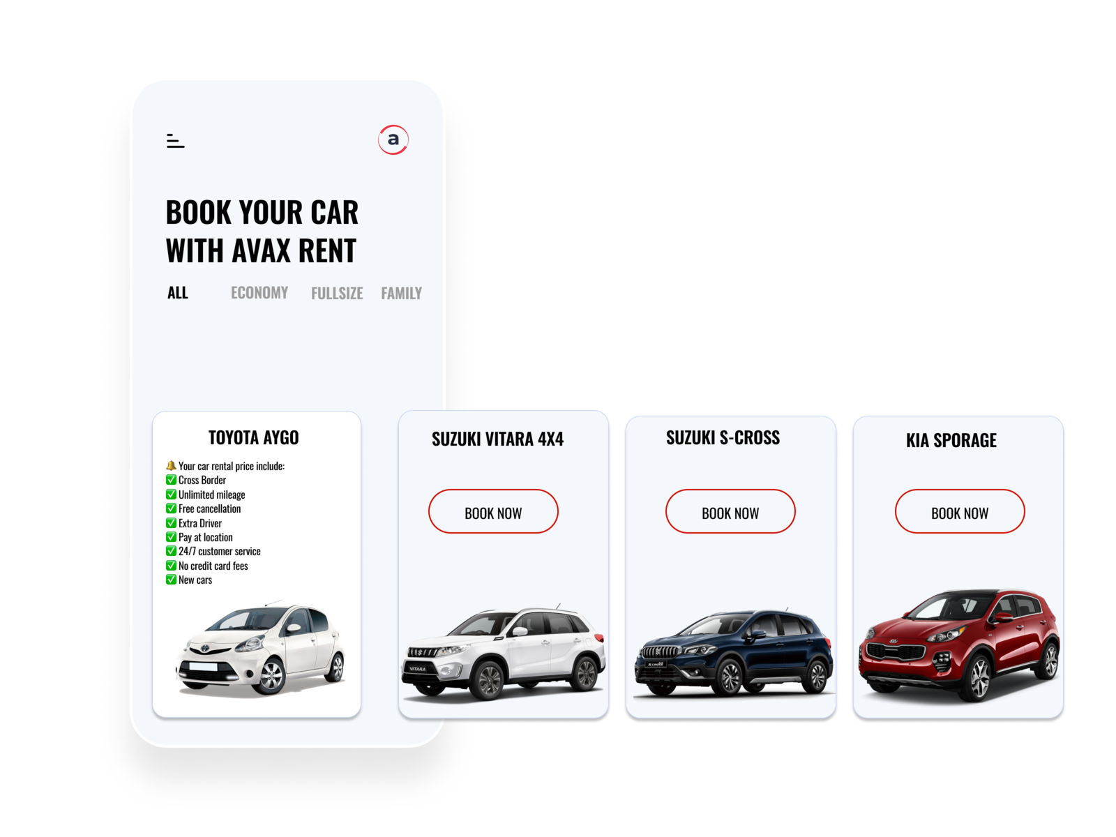 Book your car with Avax rent a car