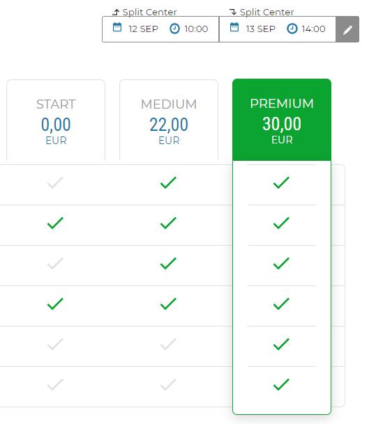 Voici un exemple de sélection d'une assurance PREMIUM via notre site web.