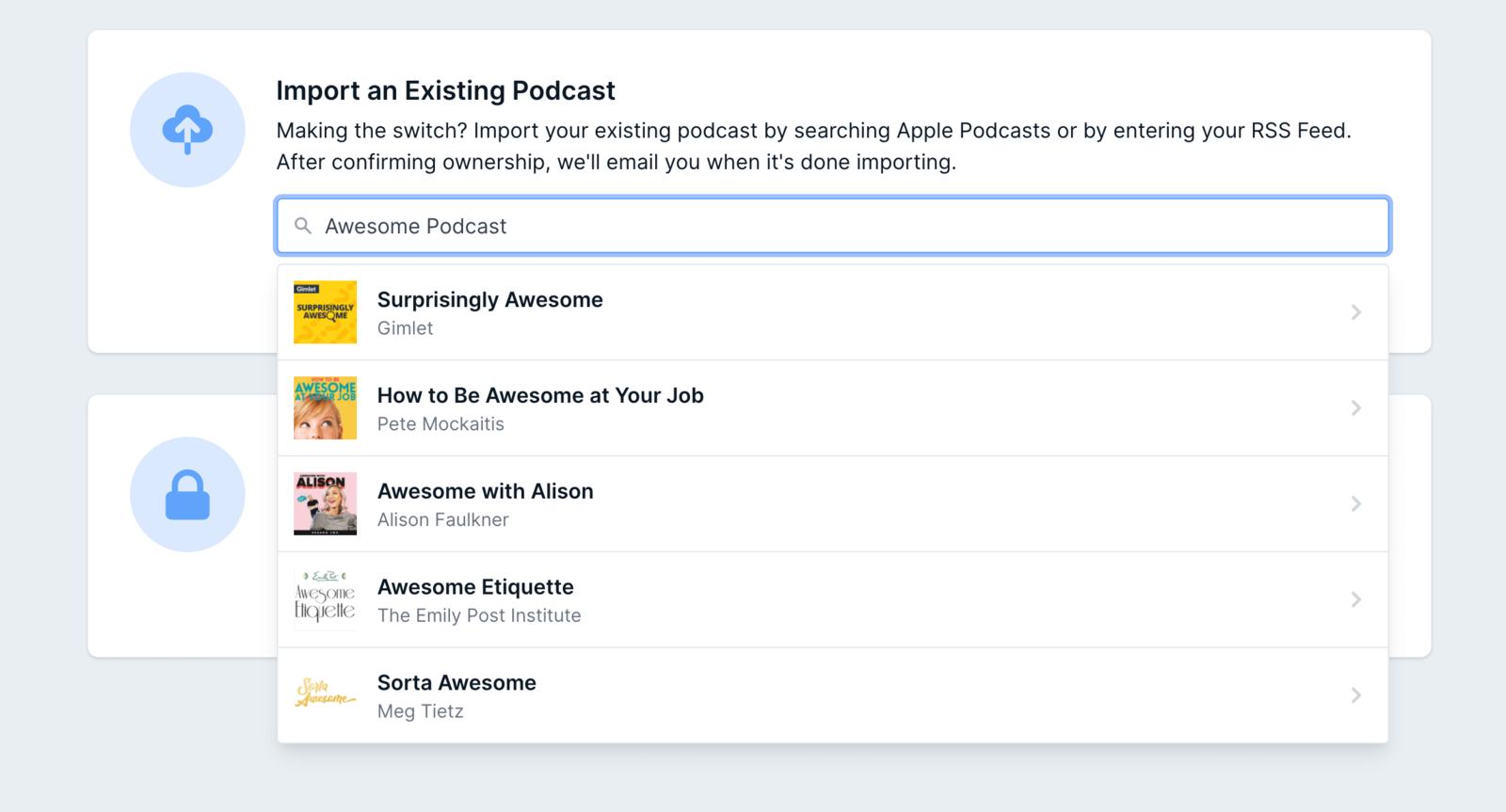Find your podcast