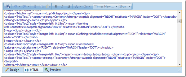Formatting and styling code in Microsoft Word